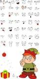 Xmas gnomo elf kid cartoon set02 Royalty Free Stock Photos