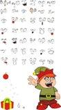 Xmas gnomo elf kid cartoon set03 Stock Images