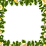 Xmas Gold Border Royalty Free Stock Photo