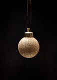 Xmas golden ball Royalty Free Stock Images