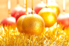 Xmas golden balls Royalty Free Stock Photography