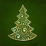 Xmas golden tree Royalty Free Stock Photography
