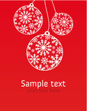 Xmas greeting card Stock Photos