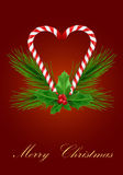 Xmas greeting card with candies Stock Photography