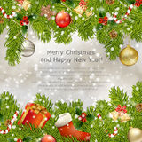 Xmas greeting card royalty free illustration