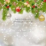 Xmas greeting card Stock Image