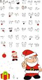 Xmas gumpy santa kid cartoon expression set Stock Photo