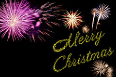 Xmas holiday fireworks Royalty Free Stock Photography