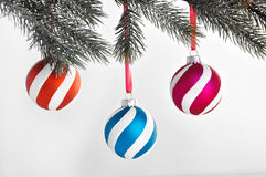 Xmas holiday hanging ornaments Royalty Free Stock Images