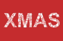 XMAS in holiday silhouettes Royalty Free Stock Image