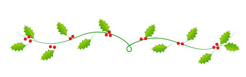 Xmas holy leaves. Divider/web heading Stock Images