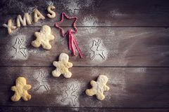 Xmas homemade cookies Royalty Free Stock Images