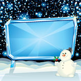 Xmas Ice Billboard royalty free stock image