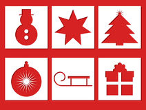 Xmas Icons Royalty Free Stock Images