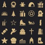 Xmas icons set, simple style. Xmas icons set. Simple set of 25 xmas vector icons for web for any design vector illustration