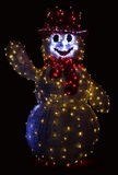 Xmas Illuminated Snowman Stock Photography