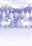 Xmas illustration 16. Hand drawn illustration / backdrop / background Stock Photography