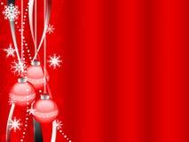 Xmas illustration - Balls - snowflakes Stock Images