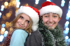 Xmas kids Stock Image