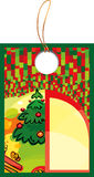 Xmas label. Background is my creative drawing and you can use it for your design, made in , Adobe Illustrator 8 EPS file Royalty Free Stock Photos