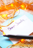 Xmas letter Royalty Free Stock Images