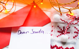 Xmas letter Royalty Free Stock Photography