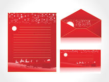 Xmas letter head and envelope Stock Photo
