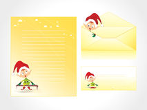 Xmas letter head and envelope Stock Images