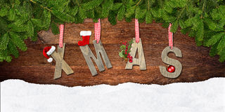 Xmas lettering Royalty Free Stock Photography