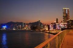 Xmas lighting at Tsim Sha Tsui, hk. The xmas lighting at Tsim Sha Tsui, hk stock photo