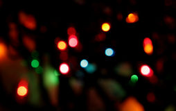 Xmas Lights Blur Royalty Free Stock Images