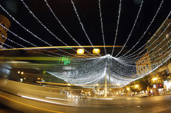 Xmas lights downtown palma Royalty Free Stock Photography