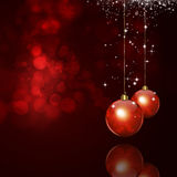 Xmas Magic Red Background Royalty Free Stock Images