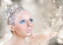 Xmas makeup Royalty Free Stock Images