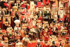 Xmas market in Luxembourg. City. Organised every year in the city center. Decoration for Christmas tree and for home. Xmas time full of joy and happiness, time Royalty Free Stock Images