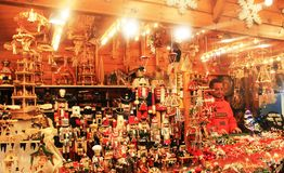 Xmas market in Luxembourg. City. Organised every year in the city center. Decoration for Christmas tree and for home. Xmas time full of joy and happiness, time Stock Photography
