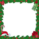Xmas mistletoe frame Royalty Free Stock Images