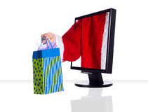 Xmas monitor Royalty Free Stock Image