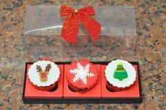 Xmas-muffin royaltyfri foto