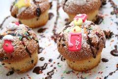 Xmas muffins Royalty Free Stock Photo