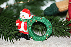 Xmas napkin ring. A christmas napkin ring decoration Royalty Free Stock Image