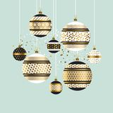 Xmas and new year fancy decoration elements Royalty Free Stock Photos