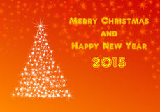 Xmas and new year 2015. Illustration card for merry christmas and happy new year 2015 Stock Image