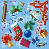 Xmas & New-Year's decorations vector illustration