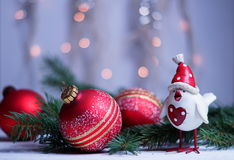 Xmas and New Year`s greetings with the symbol 2017. Xmas and NYear`s greetings with the symbol 2017 Stock Photo