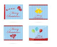 Xmas and new year sign set Stock Photography