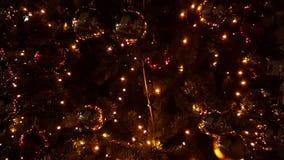 Xmas night  city lights tree , street , colors, Ioannina city Greece Royalty Free Stock Photos