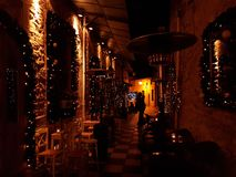 Xmas night lights in Ioannina city Epirus Greece Royalty Free Stock Photos