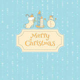 Xmas objects card Stock Image