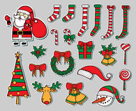 Xmas objects Stock Image
